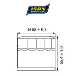 Filtru ulei ISON 138-0