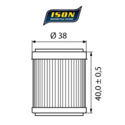 Filtru ulei ISON141-0