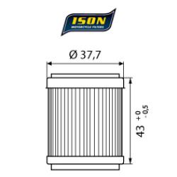 Filtru ulei ISON143-0