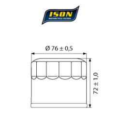 Filtru ulei ISON163-0