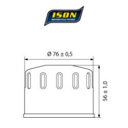 Filtru ulei ISON164-0