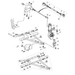 Suspensie Directie Franare ATV Yamaha