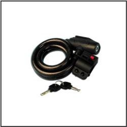 Antifurt cu cablu spiralat
