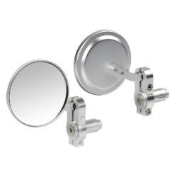 Set Oglinzi Lampa capat ghidon DERNIER, surub 13-18 mm argintiu